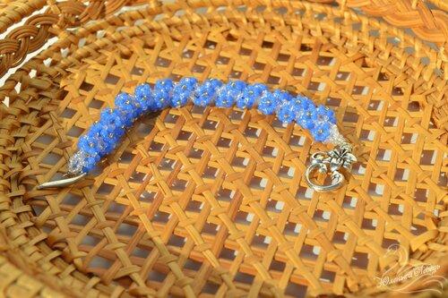 Альбом пользователя Юленька_Лебедь: Браслет голубые цветы6.JPG