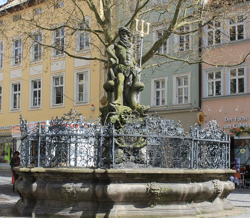 Bamberg. The fountain of Neptune (Gabelmann)