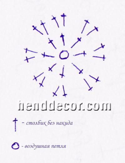 бусина крючком схема - Всемирная схемотехника.