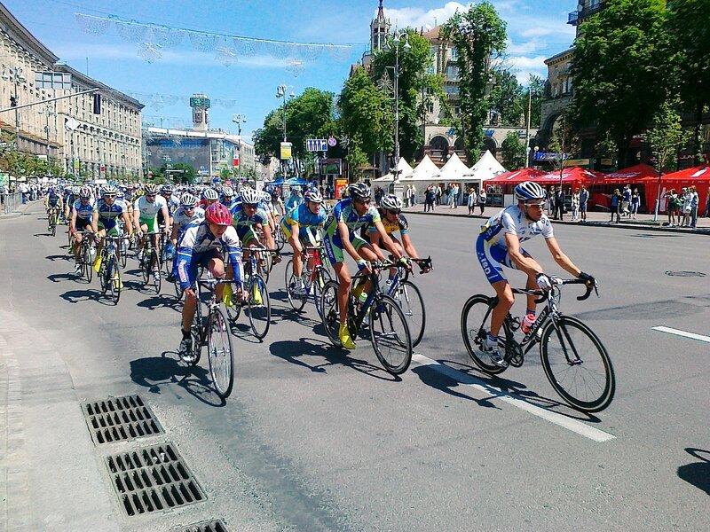 Международная велогонка по Крещатику
