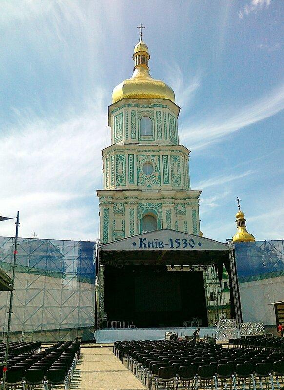 Концертная сцена Дня Киева 2012 на Софиевской площади