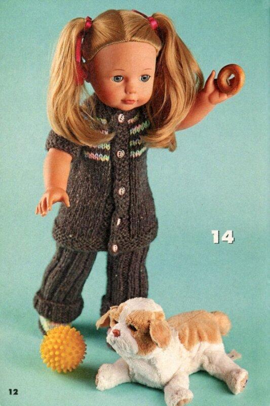 Вязаный креатив.  Спецвыпуск 1 2012 Одежда для кукол и медвежат.