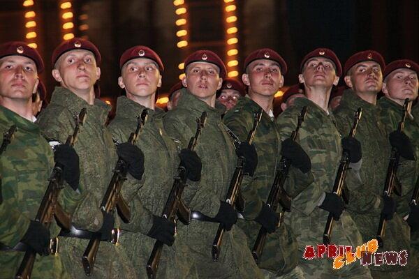 Первая репетиция парада Победы
