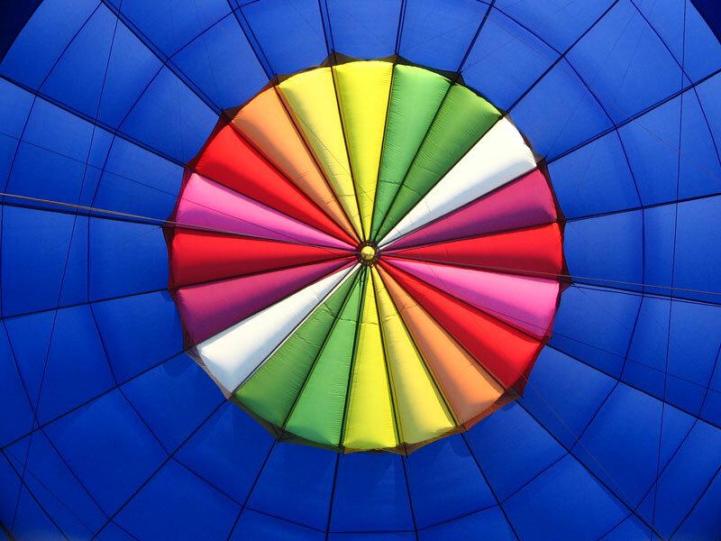 inside hot air balloon by Uwe Werner