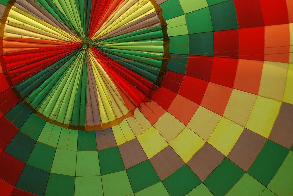inside hot air balloon by Gordon Yeaman