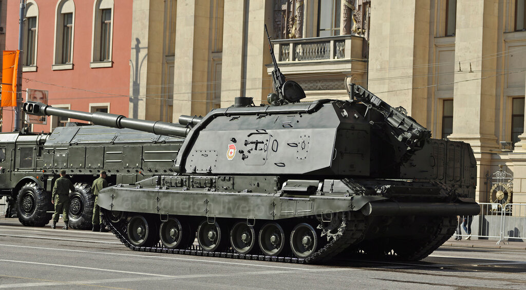 САУ Мста-С / 152mm self-propelled howitzer Msta-S. © 2012. Андрей Крюченко / Andrey Kryuchenko