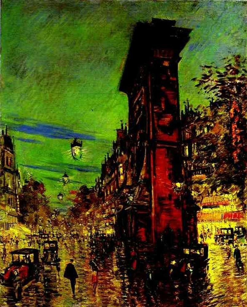 Коровин,  Париж. Арка Сен-Дени, 1930-е