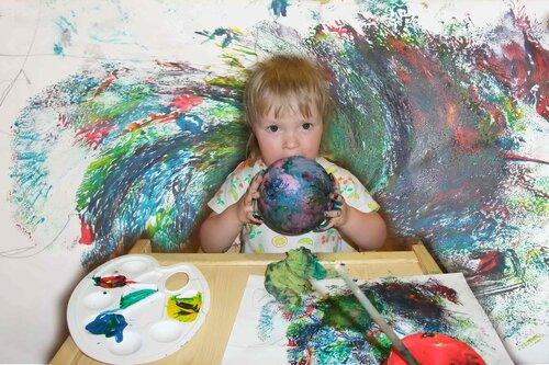 Выставка детских рисунков. Парамонова Катя