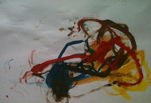 Рисунки красками. Автор: Артемий Лапшин