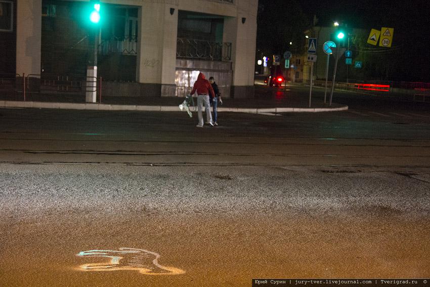 акция по маркировке ям и ухабов на улицах города Твери