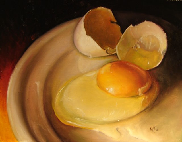 Baroque n' Egg by Mary Ellen Johnson