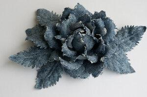 Цветы из джинсовой ткани 0_7b04b_2bf63532_M