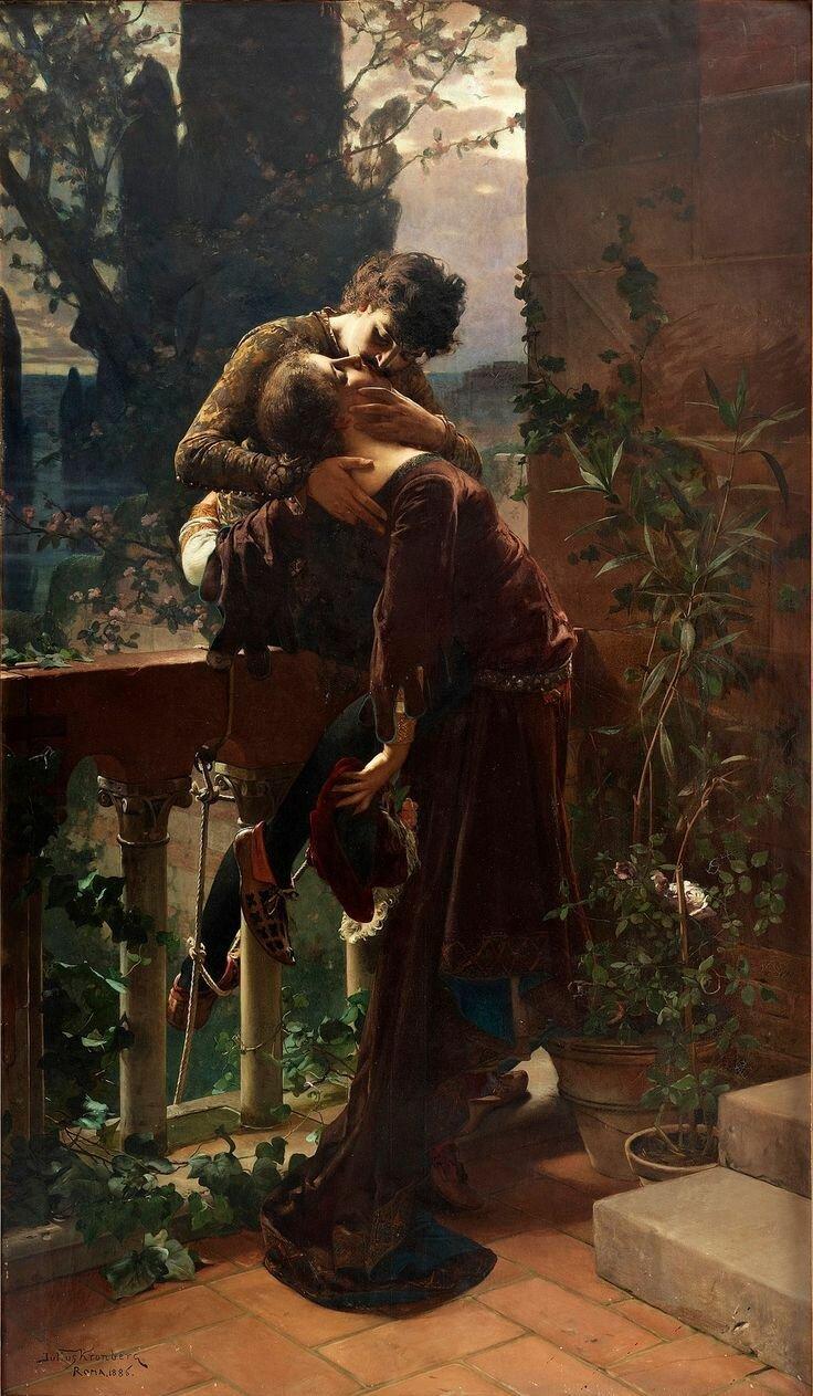 Юлий Кронберг Ромео и Джульетта на балконе, 1886
