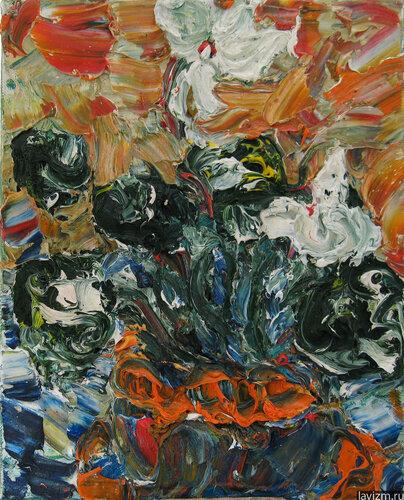 Картина Белый Цикламен Екатерина Лебедева художница