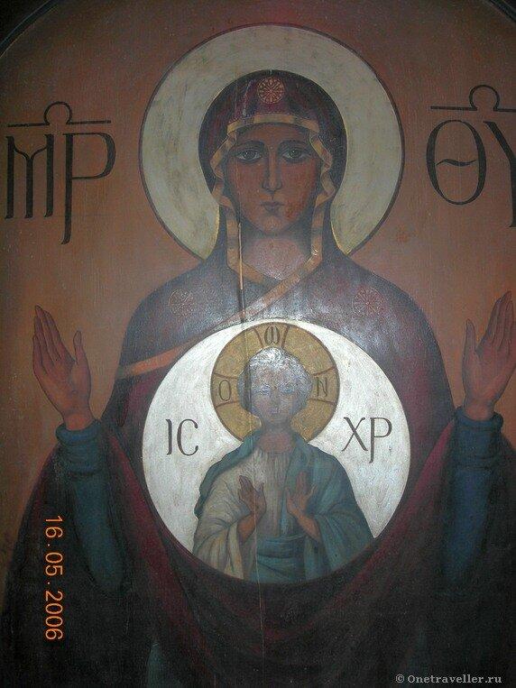 Икона Пресвятой Богородицы в крипте храма Успения Пресвятой Богородицы