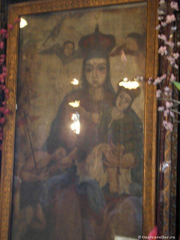 Икона Божией Матери в коптском храме Эль-Муаллака