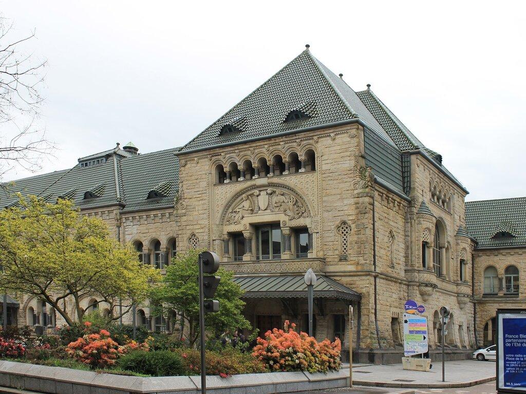 Мец. Железнодрожный вокзал Вильгельма II (Gare de Metz-Ville)