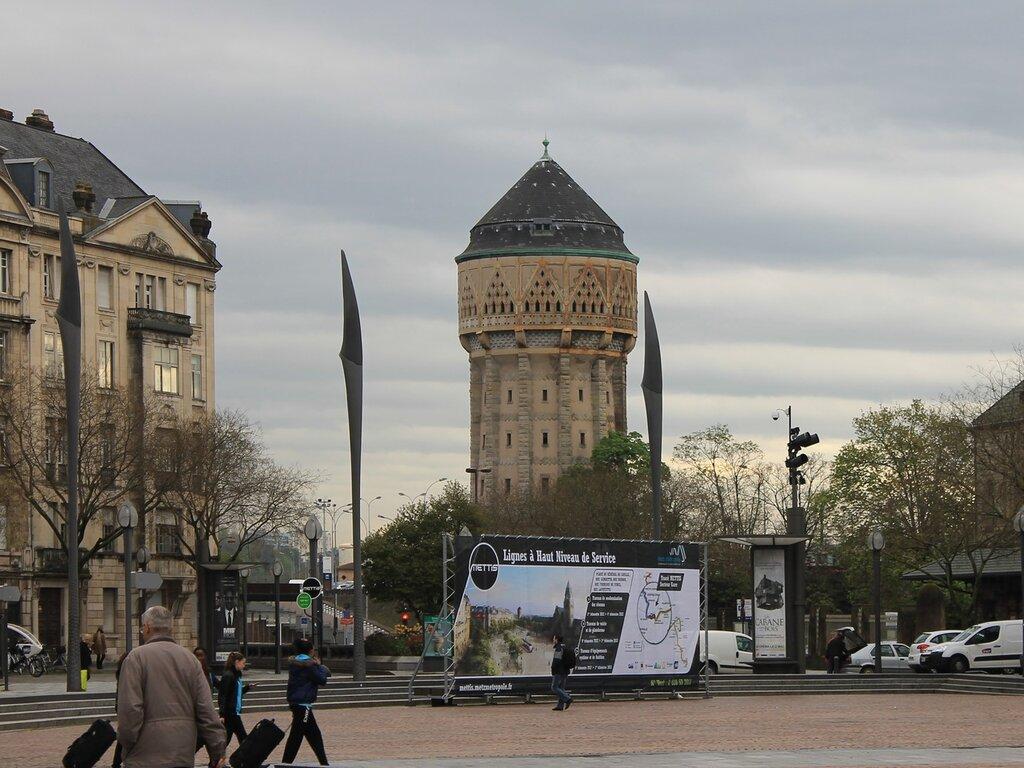 Metz. Wilhelm II train station (Gare de Metz-Ville)