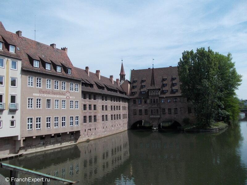 Вид с Музейного мостика. Нюрнберг