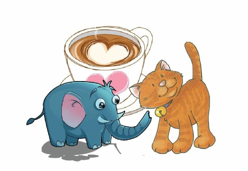 Картинки кот и слон