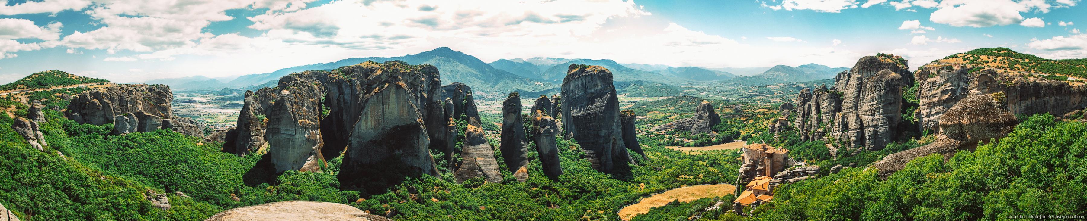 Панорома, Каламбака, Греция, Метеоры