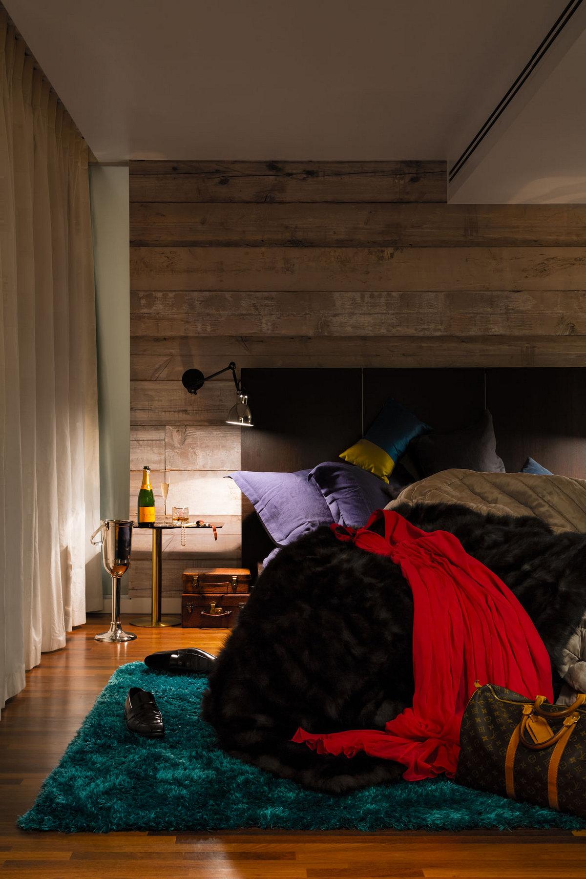 Daniel Hopwood, пентхаус Night and Day, холостяцкий интерьер, интерьер для мужчины, мужской интерьер квартиры, пентхаус в Лондоне, шикарный интерьер