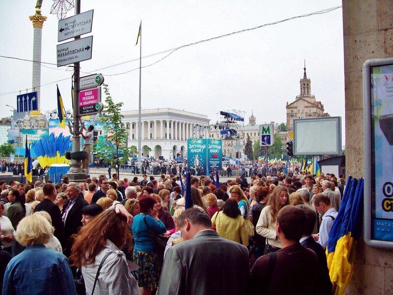 День победы 2012 на Майдане Незалежности