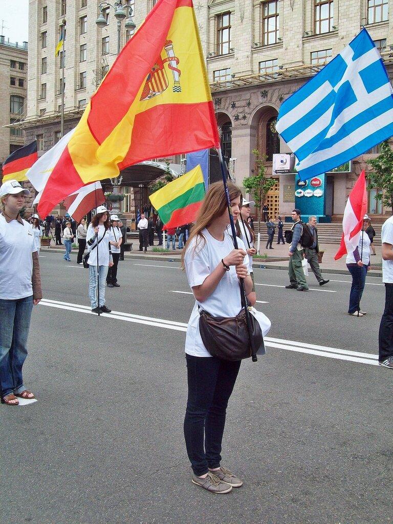 Флаги европейских стран под киевской