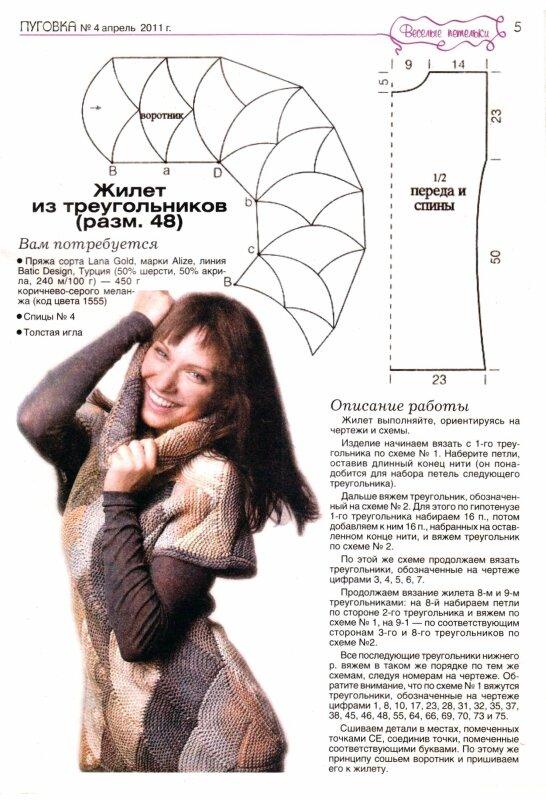 Что означает в вязание треугольник