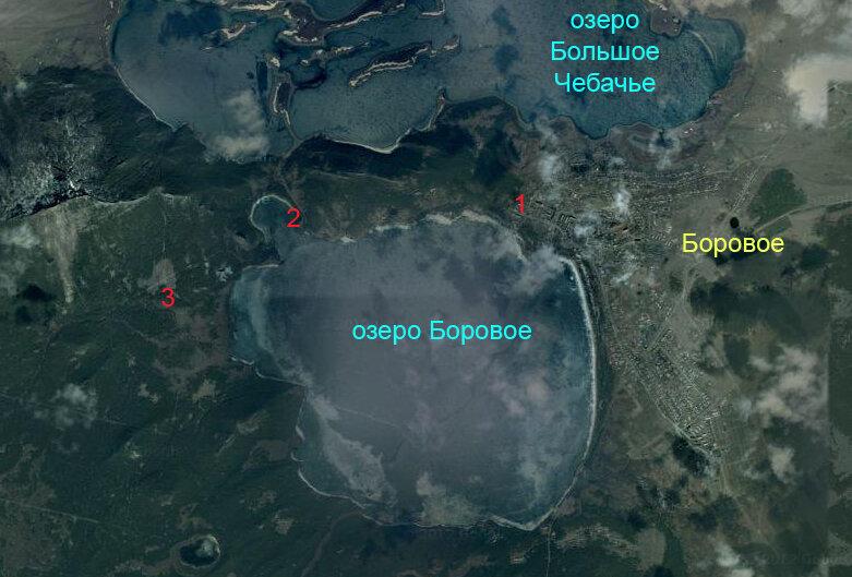 Боровое. Карта курортной зоны - 2012 год. Комментарии к фото - Кокшетау Онлайн