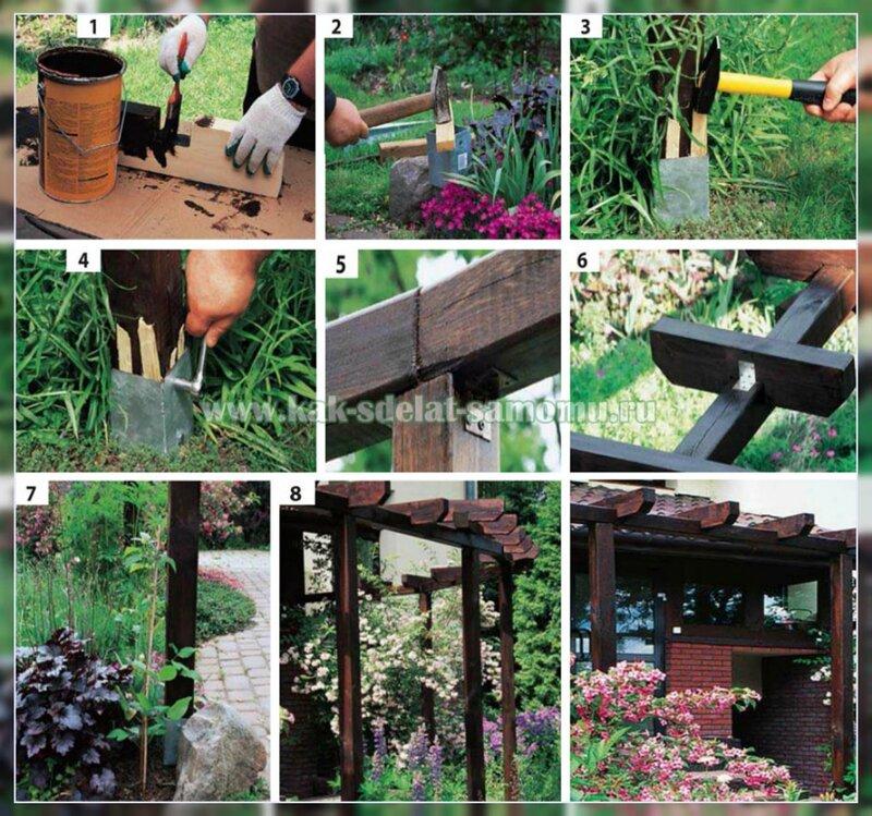 садовая пергола фото