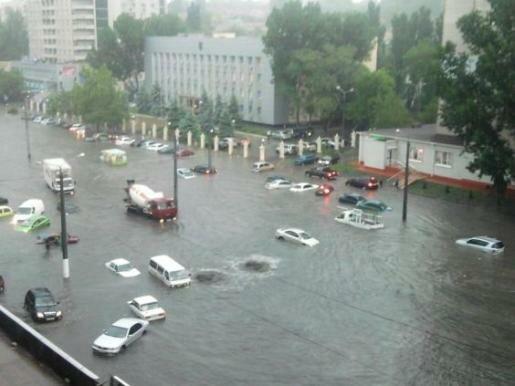 Одесса и Донецк за два часа превратилась в Венецию