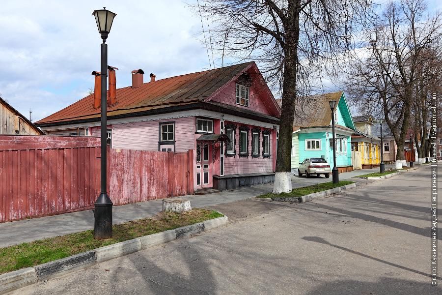домики жителей Городца