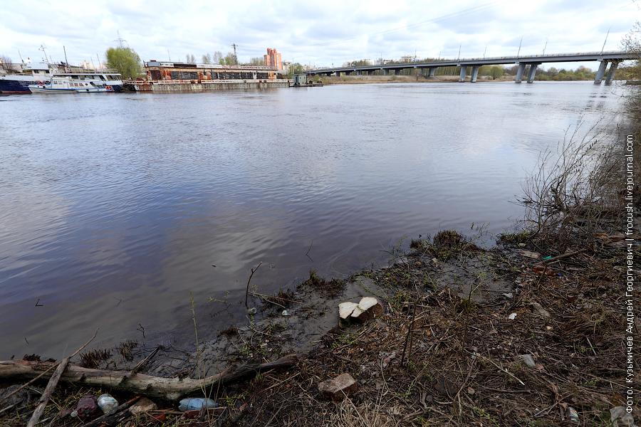 Река Которосль и Толбухинский мост в Ярославле