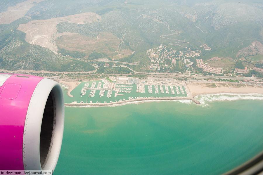 вид на испанский курорт сверху
