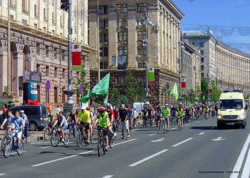 Велодень 2012 в честь дня Киева.