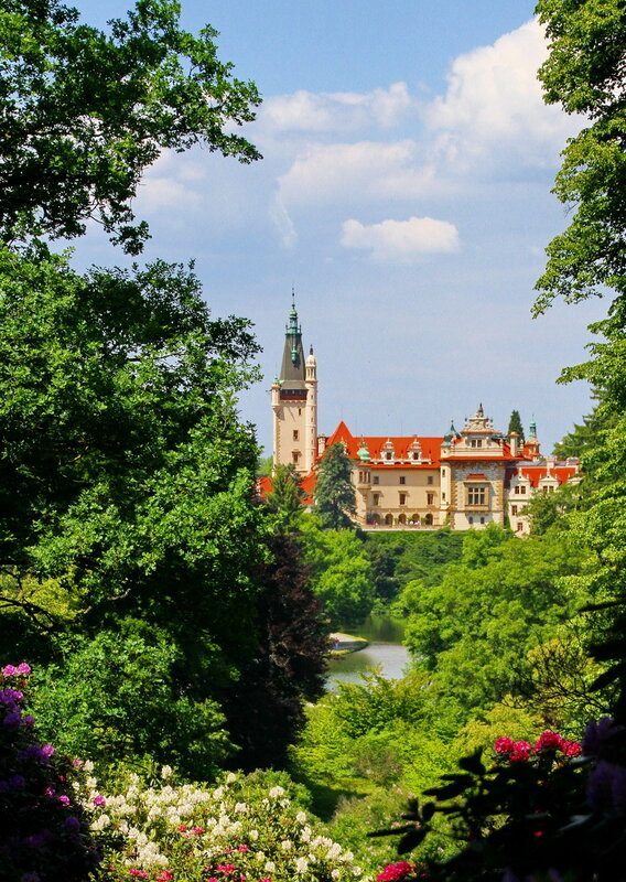 Pruhonice-Парк и замок Пругоницы. Чехия