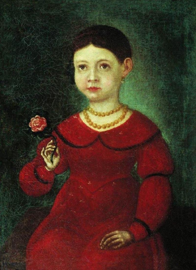 Фёдор Бронников (1827–1902) (Россия) Portrait of a Girl Evdokia Kuznetsova (1842).jpg