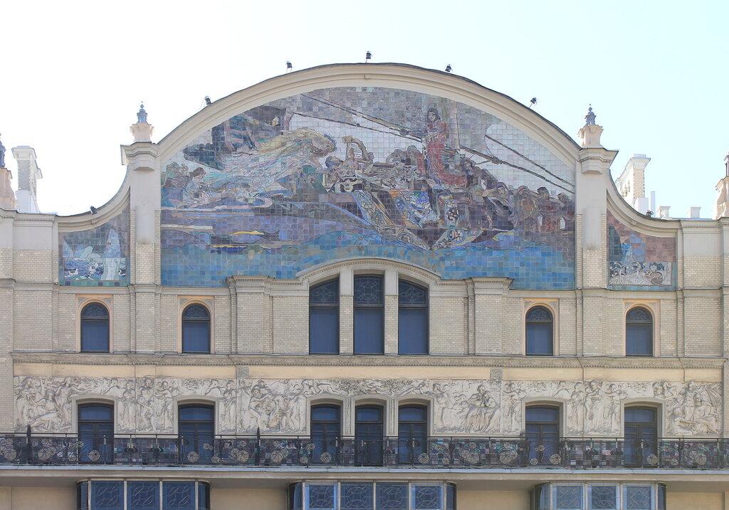 Москва. Гостиница Метрополь. Мозаичные панно