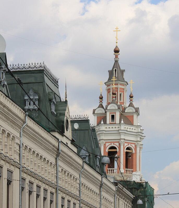 Москва. Колокольня Спасского собора Заиконоспасского монастыря