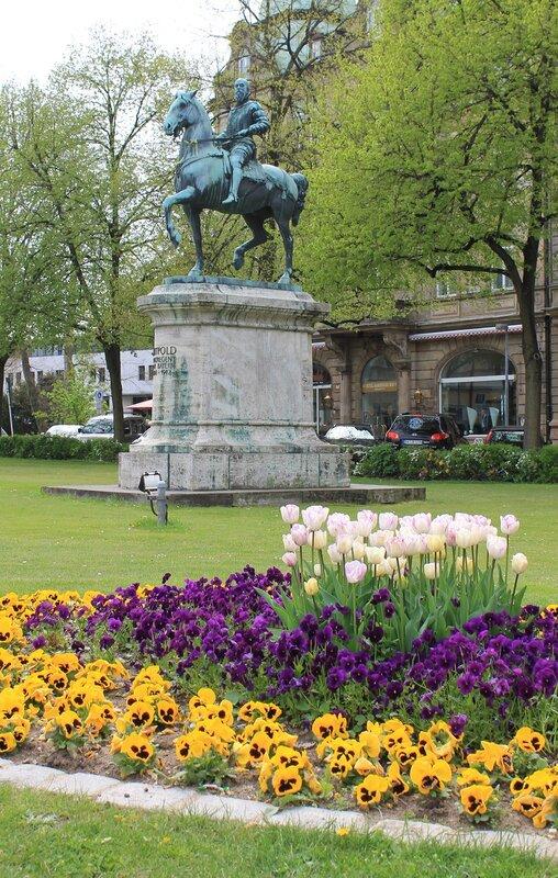 Bamberg. Monument of Luitpold Bavarian