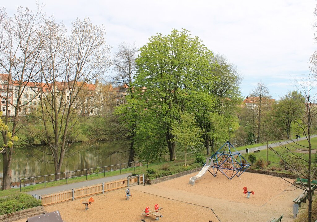 Bamberg. Embankment of the Main-Danube canal