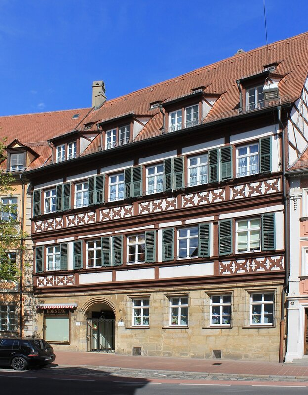 Bamberg. Street of the Capuchins (Kapuzinerstraße)