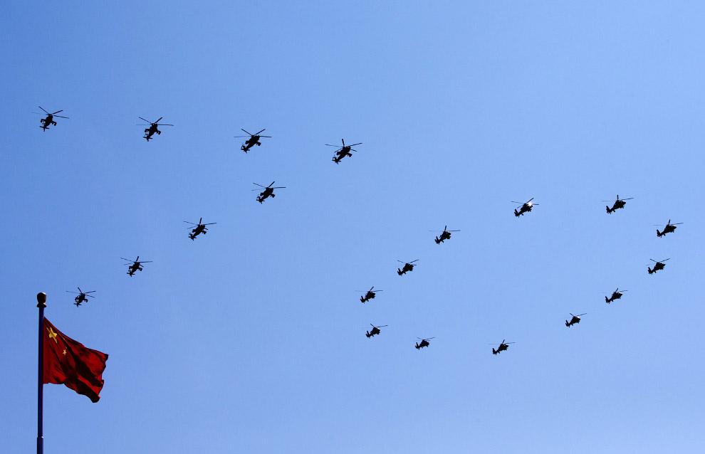 17. По данным агентства Синьхуа, за парадом наблюдали президенты и главы правительств 23 иностранных