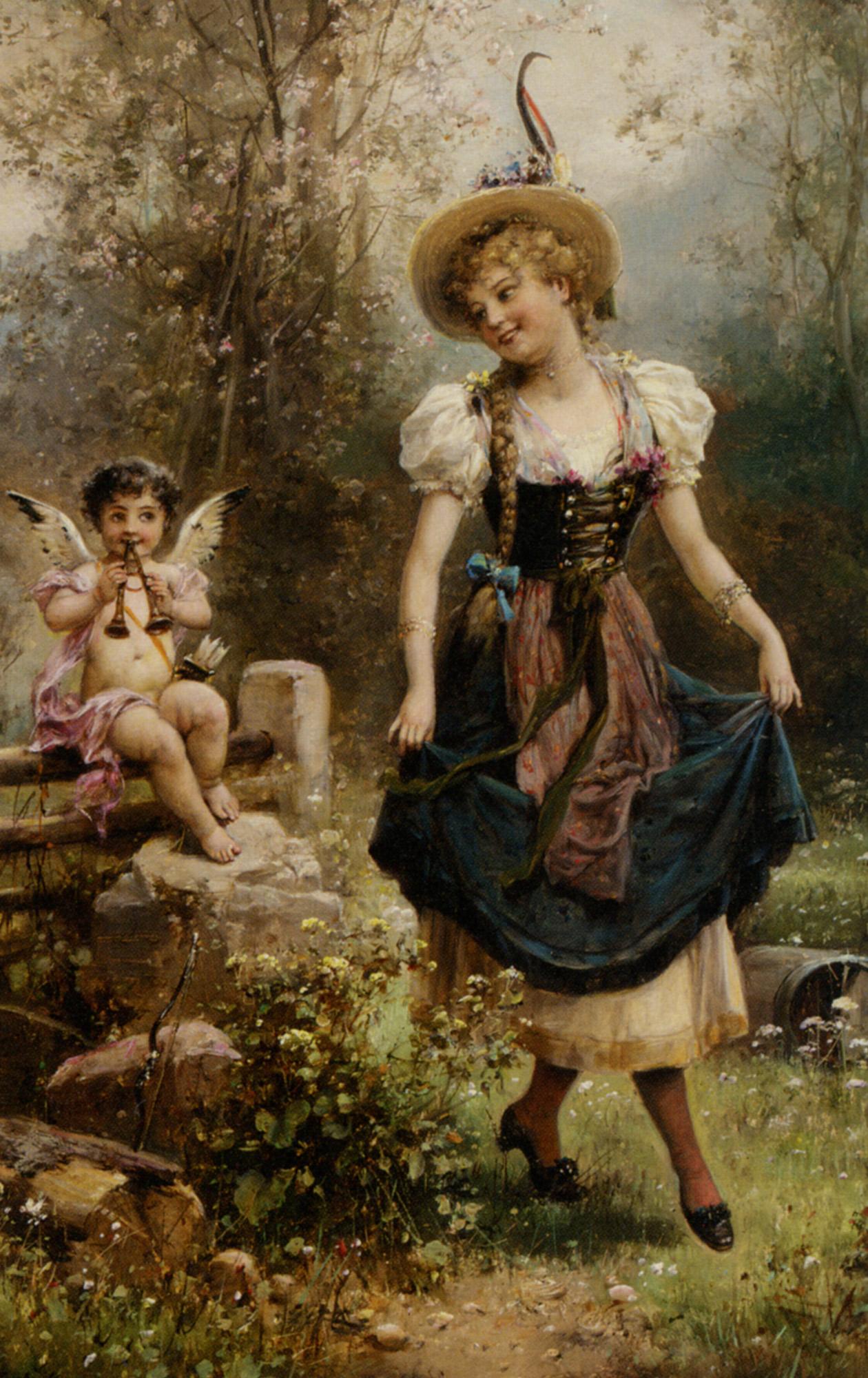 Картины австрийского художника ханса зацка (hans zatzka) - у.