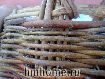 Корзинка плетёная из лозы