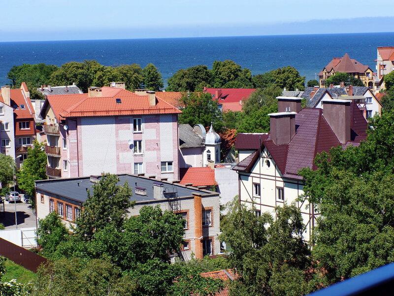 Вид на город и Балтику