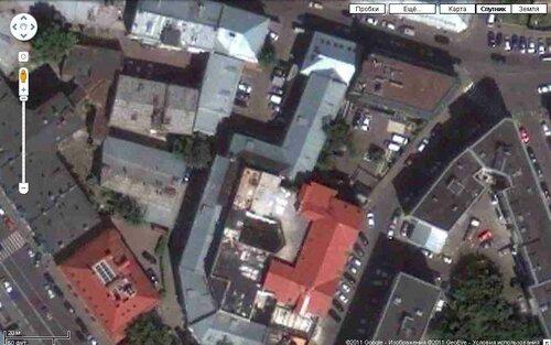 Публичный дом в Певческом переулке на карте Гугл. 2010