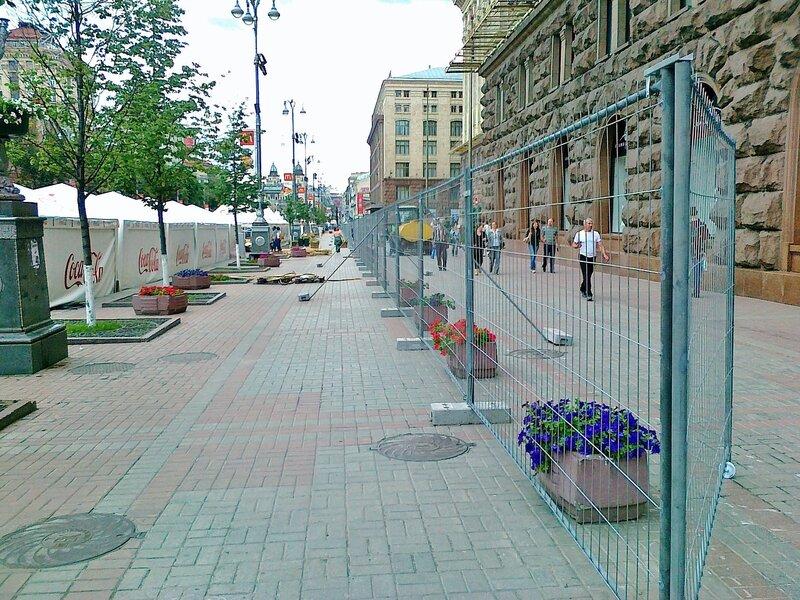 Ограждение фан-зоны Евро 2012 в Киеве
