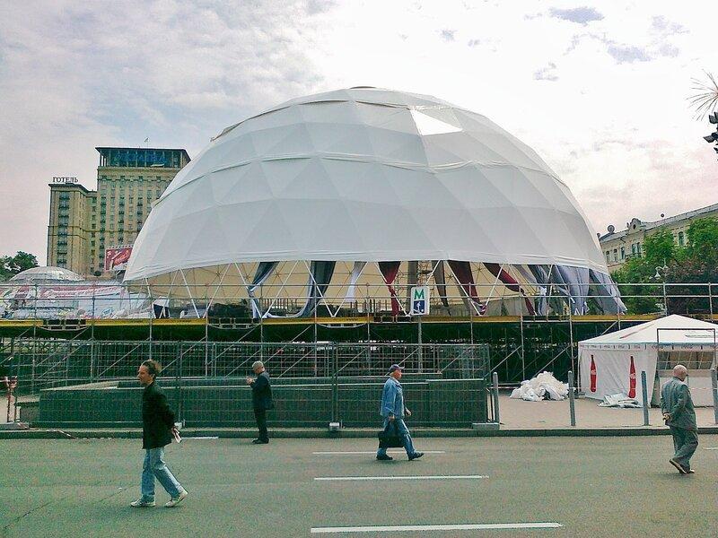Купол фан-зоны Евро 2012 на Майдане Незалежности